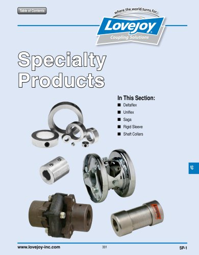 Specialty catalog
