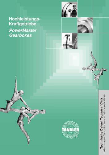 PowerMaster gearboxes by Tandler - TANDLER - PDF Catalogs