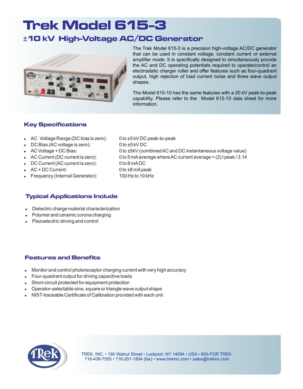 615 3 High Voltage Ac Dc Generator Trek Inc Pdf Catalogs For More Detail Circuit Provides Constantcurrent Load Testing Add To Mydirectindustry Favorites