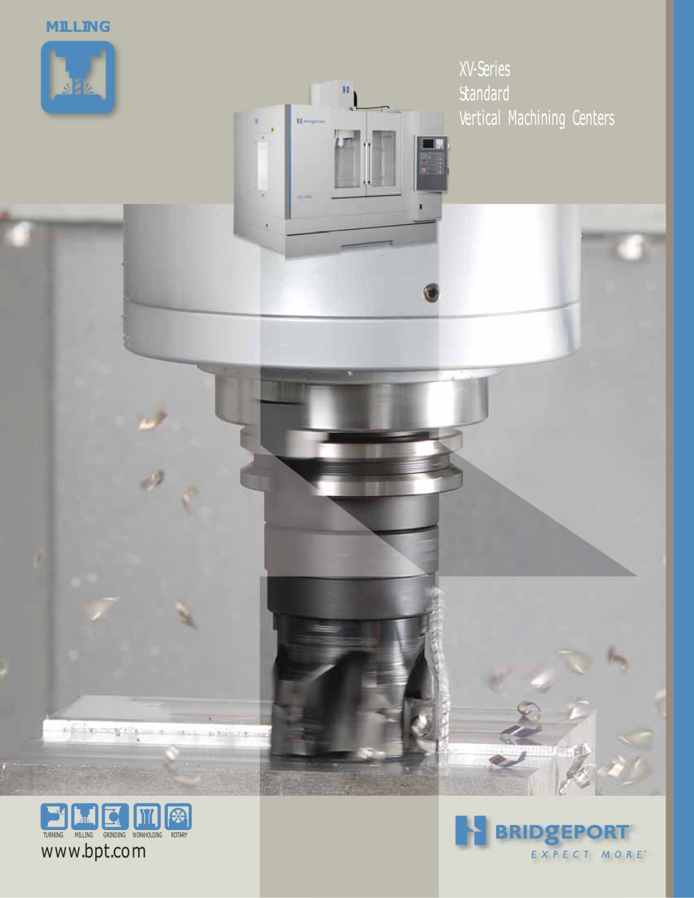 Bridgeport xv series vertical machining 1 8 pages
