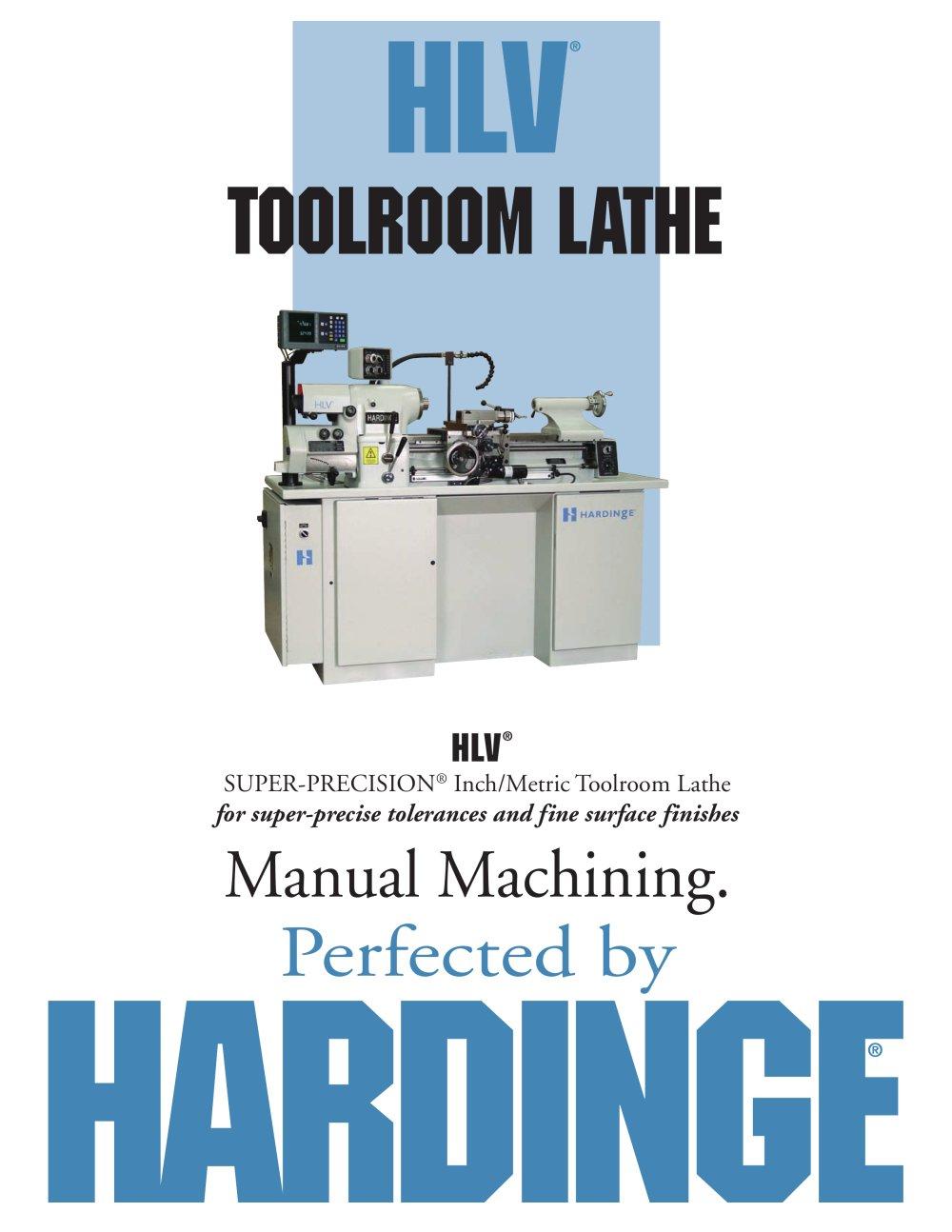 hlv manual toolroom lathe hardinge bridgeport pdf catalogue rh pdf directindustry com hardinge lathe manual hlvh em hardinge lathe manuals pdf
