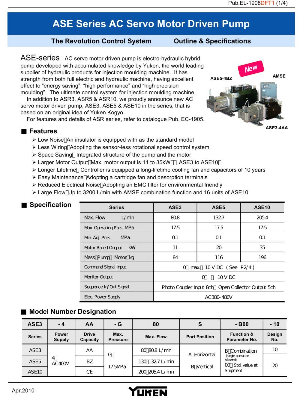 ASE series - YUKEN Europe Ltd. - PDF Catalogue   Technical ...