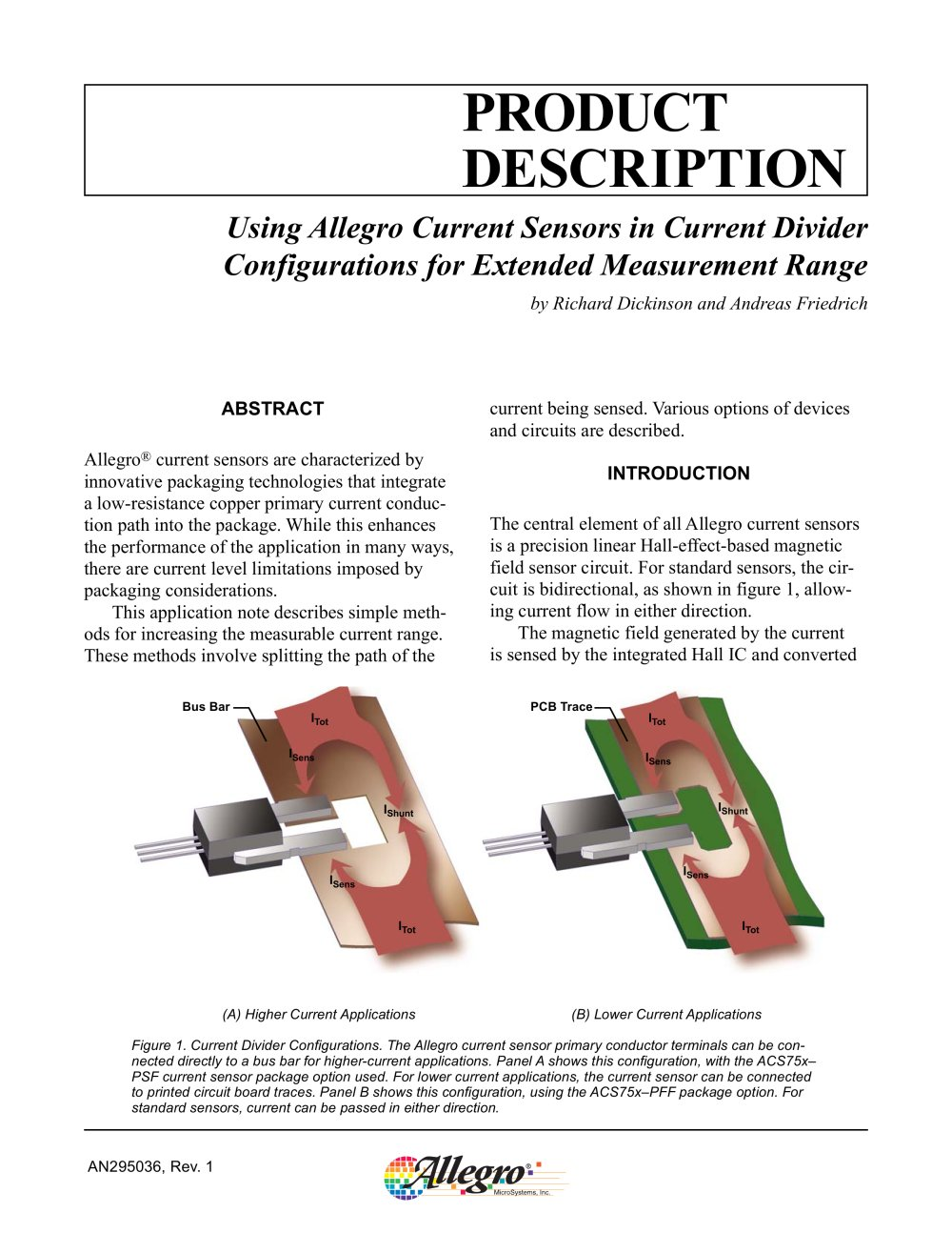 Current Sensors Allegro Microsystems Pdf Catalogue Technical Sensor Ic Hall Effect Circuit 1 9 Pages