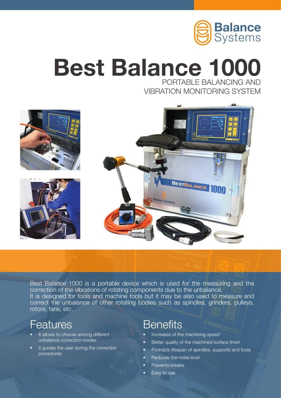 BEST BALANCE 1000 - BB1000 - Balance Systems S.r.l - PDF Catalogue ...