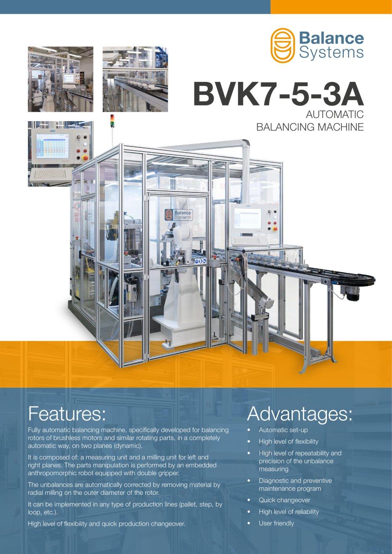 BVK7-5-3A Automatic balancing machine - Balance Systems S.r.l - PDF ...