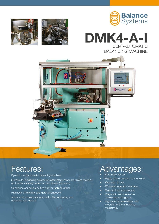 DMK4-A-I SEMI-AUTOMATIC BALANCING MACHINE FOR ROTORS - Balance ...