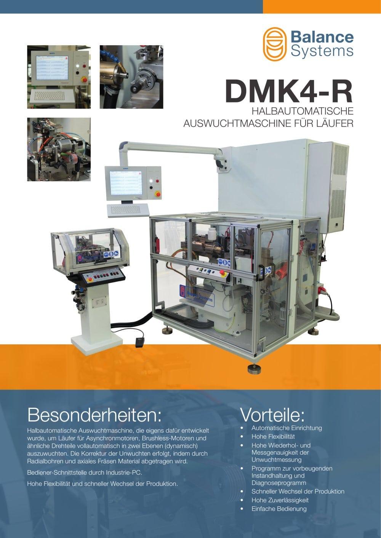 DMK4-R HALBAUTOMATISCHE ROTORENWUCHTMASCHINE - Balance Systems S.r.l ...