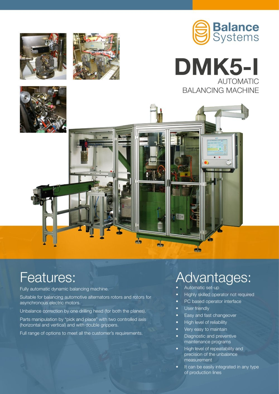 DMK5-I Automatic balancing machine - Balance Systems S.r.l - PDF ...