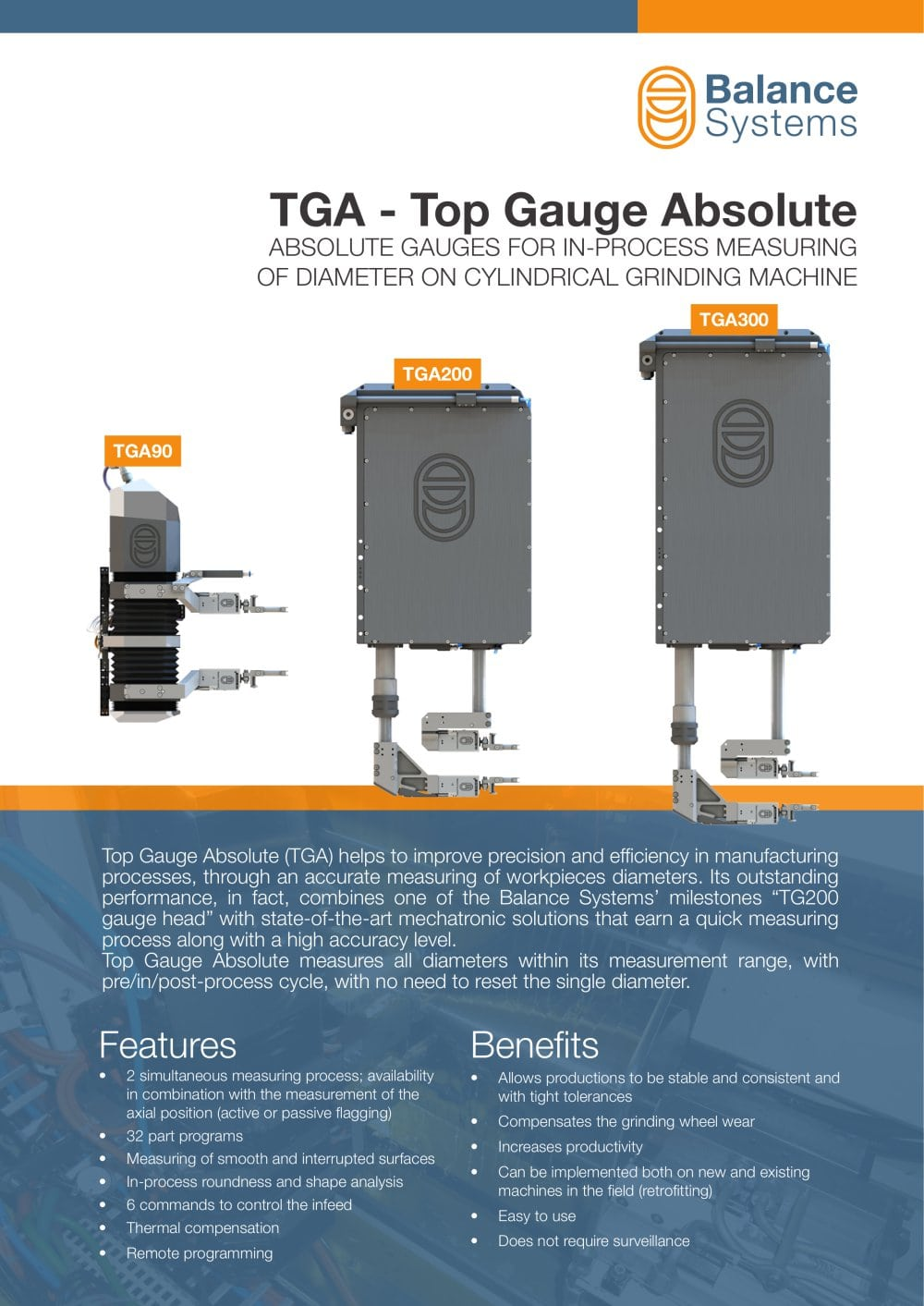 TGA – Top Gauge Absolute Absolute gauges for in-process measuring of ...