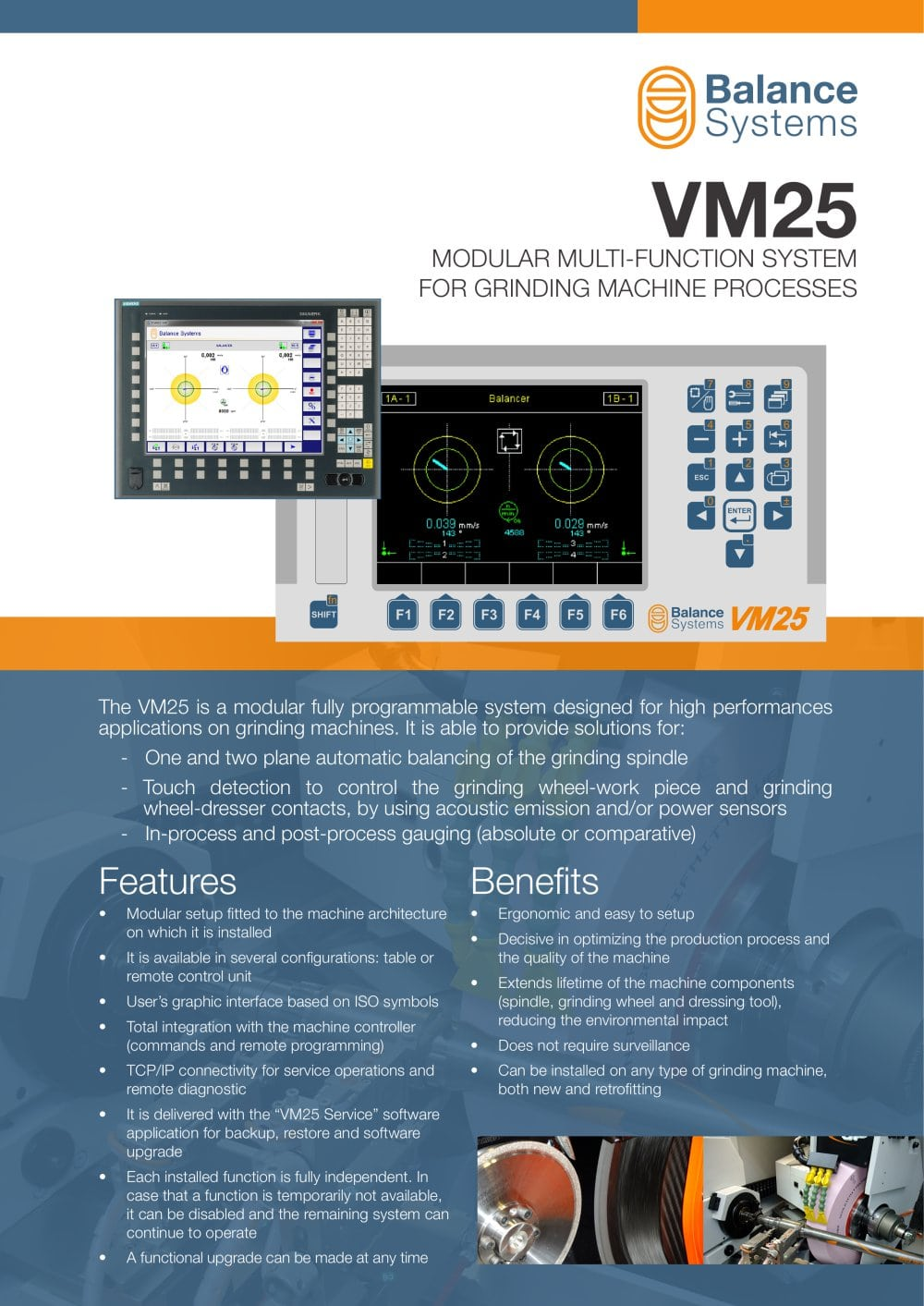 VM25 Modular system for grinding cycle control - Balance Systems ...
