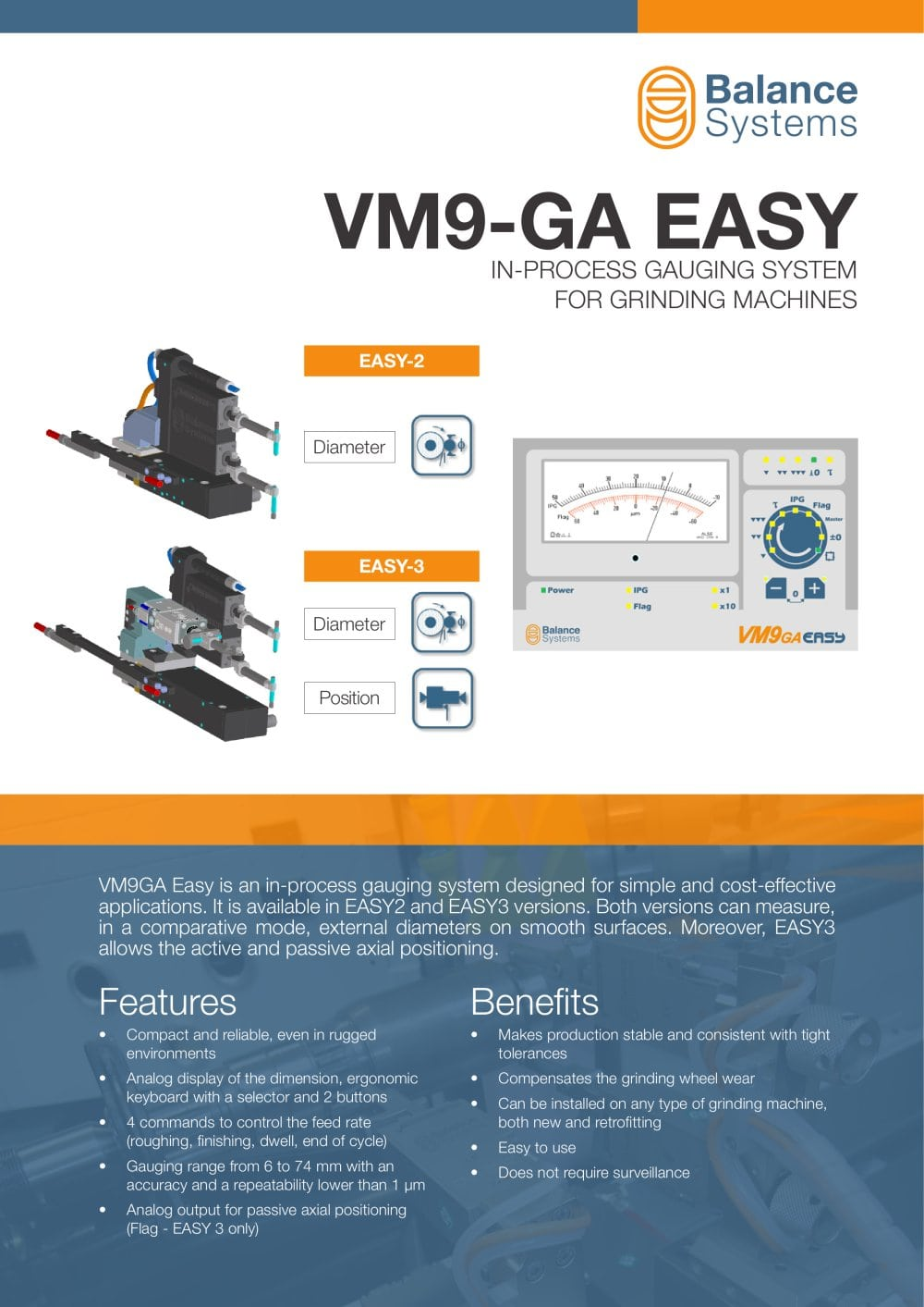 VM9-GA EASY In-Process Gauging System for Grinding Machines ...