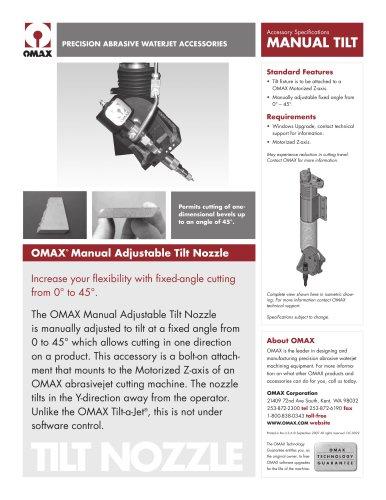 Omax-ADJTilt924 - OMAX - PDF Catalogs | Technical