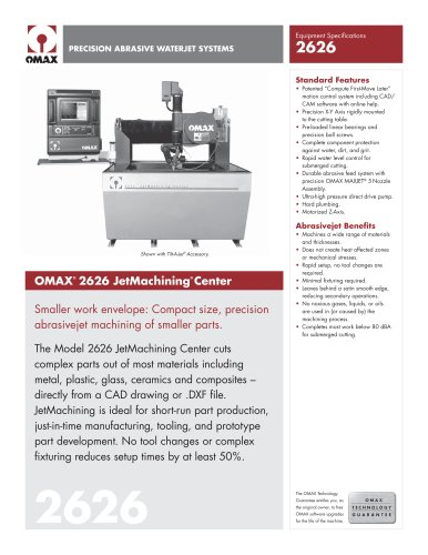 OMAX Model 2626 - OMAX - PDF Catalogs | Technical
