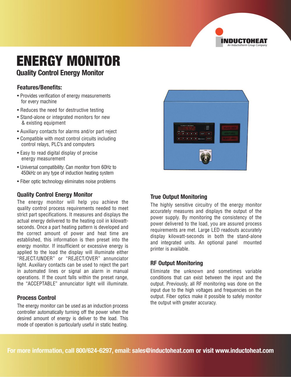 Energy Monitor Inductoheat Europe Gmbh Pdf Catalogue Technical Power Supply Is Turned Off Automatically 1 2 Pages