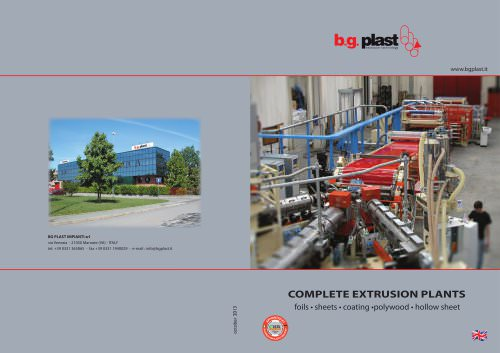 COMPLETE EXTRUSION PLANTS