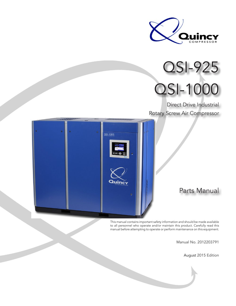 Quincy qsi 500 manual array qsi 925 1000 quincy compressor pdf catalogue technical rh pdf directindustry com fandeluxe Choice Image
