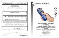 Portable Tachometer: PLT200 Pocket Laser Tach