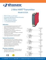 2-Wire HART Transmitter - Model 6335A
