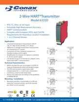 2-Wire HART Transmitter - Model 6335D