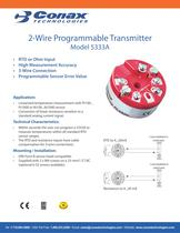 2 Wire Programmable Transmitter - Model 5333A