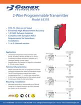 2 Wire Programmable Transmitter - Model 6331B