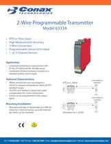 2-Wire Programmable Transmitter - Model 6333A