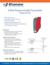 2-Wire Programmable Transmitter - Model 6333B