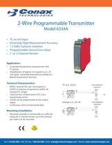2-Wire Programmable Transmitter - Model 6334A