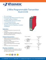 2-Wire Programmable Transmitter - Model 6334B