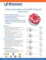 2 Wire Transmitter with HART Protocol - Model 5335D
