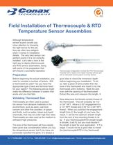 Field Installation of Temperature Sensor Assemblies - Bulletin 6027