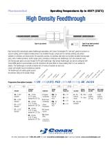 High Density Feedthroughs