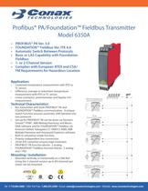 Profibus PA/Foundation Fieldbus Transmitter - Model 6350A