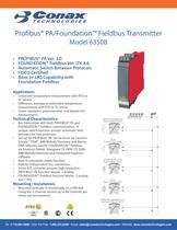 Profibus PA/Foundation Fieldbus Transmitter - Model 6350B
