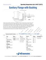 Sanitary Flange with Bushing - Bulletin 6016