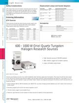 600 - 1000 W Quartz Tungsten Halogen Research Sources