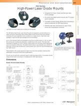 762 Series High-Power Laser Diode Mounts