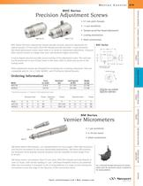 BHC Series Precision Adjustment Screws