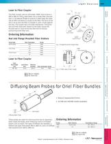 Diffusing Beam Probes for Fiber Bundles