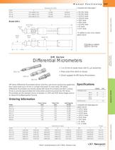 DM Series Differential Micrometers