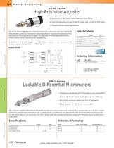 High-Precision Adjuster, Lockable Differential Micrometers