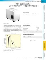 MCT Detectors for Oriel MIR8025� FT Spectrometers
