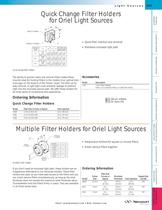 Multiple Filter Holders for Light Sources