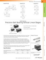 MVN Series Precision Ball Bearing Vertical Linear Stages