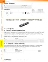 Refractive Beam Shaper Accessory Products