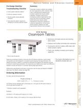 UCS Series Cleanroom Tables