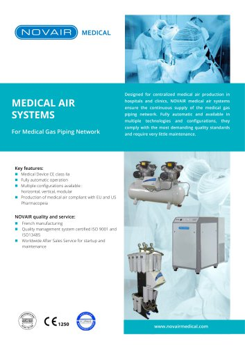 Medical Air Systems for Medical Gas Piping Systems - NOVAIR