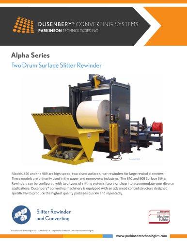 Alpha Series Two Drum Surface Slitter Rewinder Parkinson