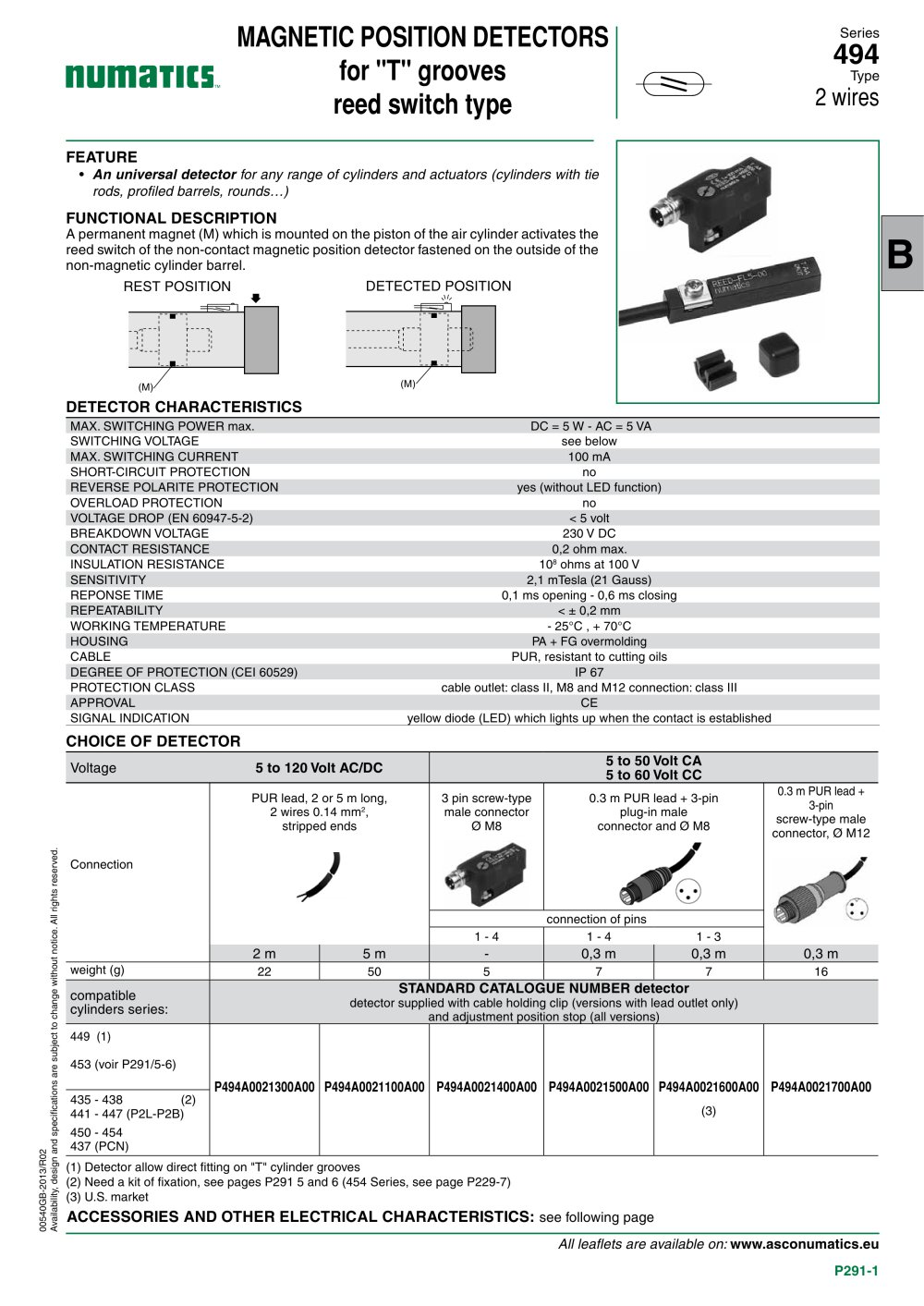 Cylinders Actuators Mountings And Sensors 494 Reed Switch Type Resistors In Parallel Switches Series 1 2 Pages