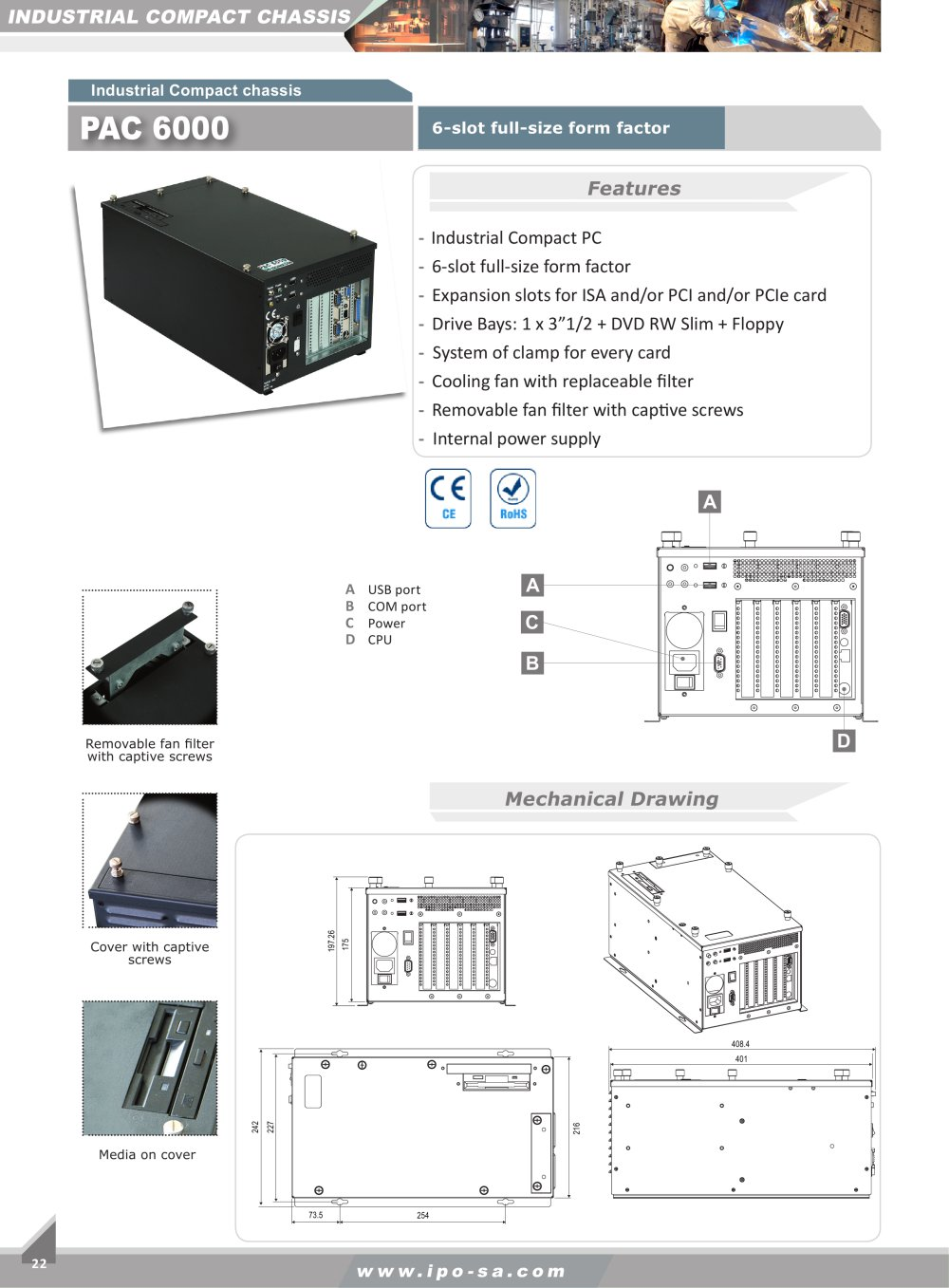 Pac 6000 Ipo Technologie Pdf Catalogue Technical Documentation At Power Supply Form Factor 1 2 Pages